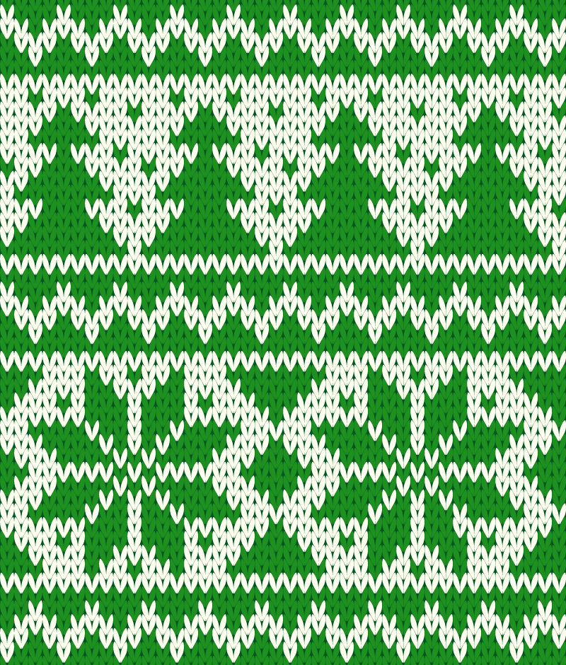 Green Christmas knitting pattern background vector material Download Free Vec...