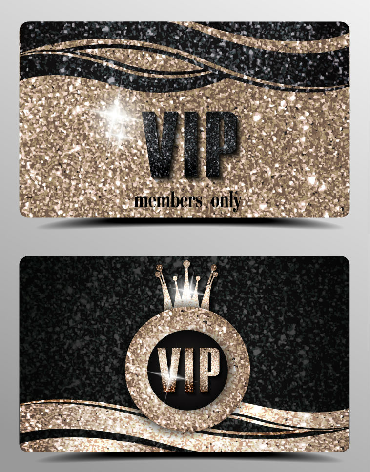2 VIP card vector material fashion scrubs