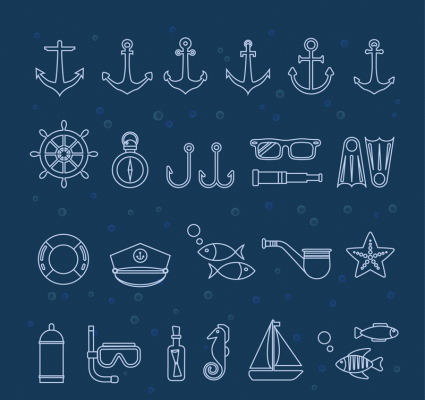 25 creative navigation elements icon vector
