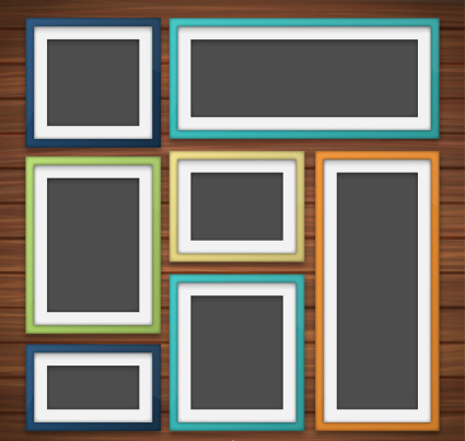 7 color frame vector material