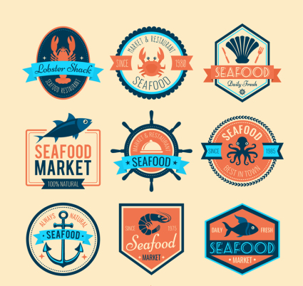 Creative Seafood Market Label