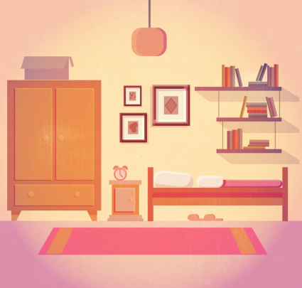 warm colors bedroom design vector material download free vector psd