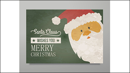 Vintage Santa Claus greeting card vector material
