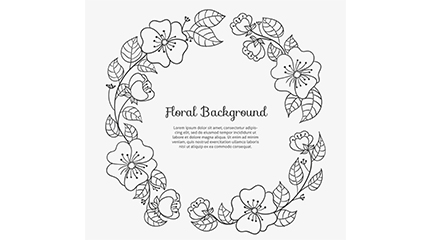 Black painted garland vector material