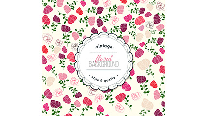 Vintage Rose flowers background vector material