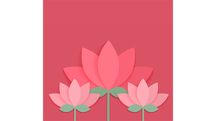Simple pink lotus design Vectors
