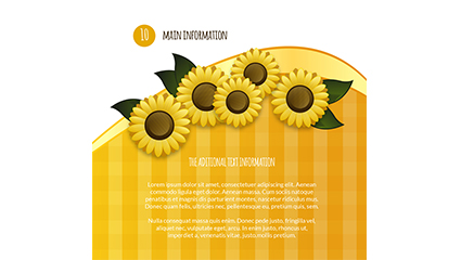 Yellow sunflower background vector material