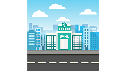 The bank building buildings creative vector