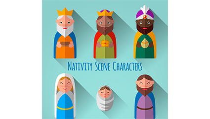 6 Creative Nativity role of vector material