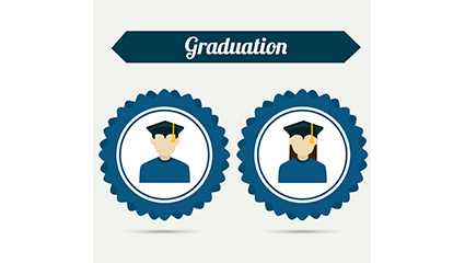 Photos Vector material men and women graduates