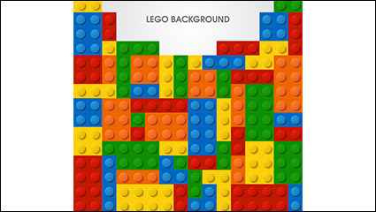 Creative Lego background vector material