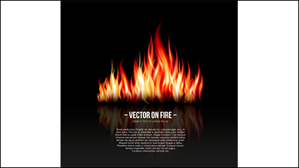 Realistic flame design vector material