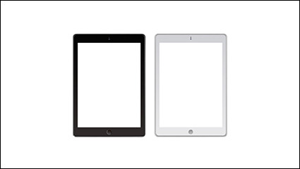 Black and white tablet vector material