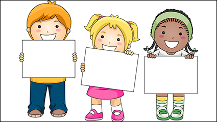 3 For blank cardboard child vector material