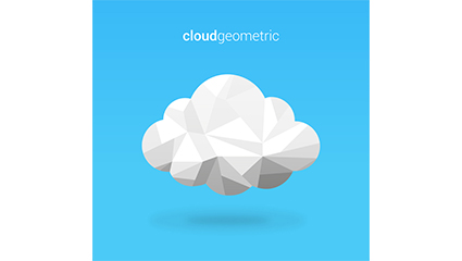 Geometric white clouds vector material