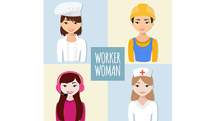 4 creative professional women vector material