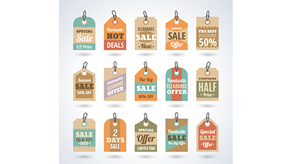 15 Creative discount tag vector material