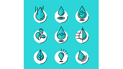 9 Creative droplet icon vector material