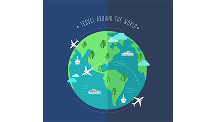 Creative World Travel illustration vector Earth