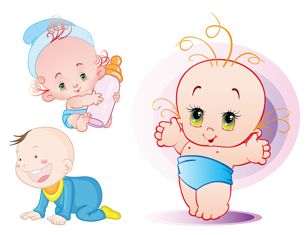 Cute Baby Vector Material Download Free Vector,PSD,FLASH