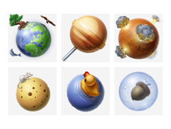 Solar System PNG icon