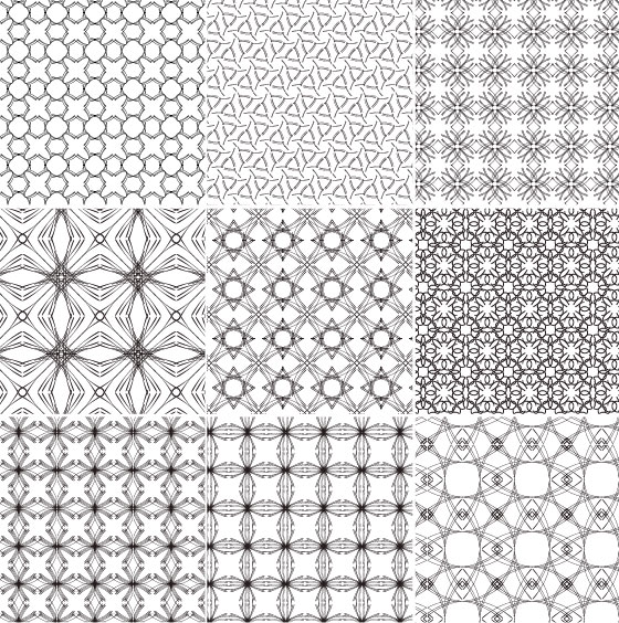 Continental Vector Background Pattern Tile Material
