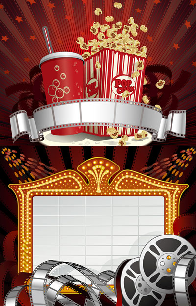 Movies Drinks Popcorn Vector Download Free Vector Psd