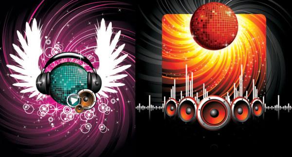 Headphones Speakers Star A Crystal Ball Vector Download
