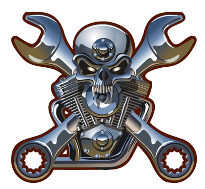 Keyword motorhead design car engine with skull and crossbones logo ...