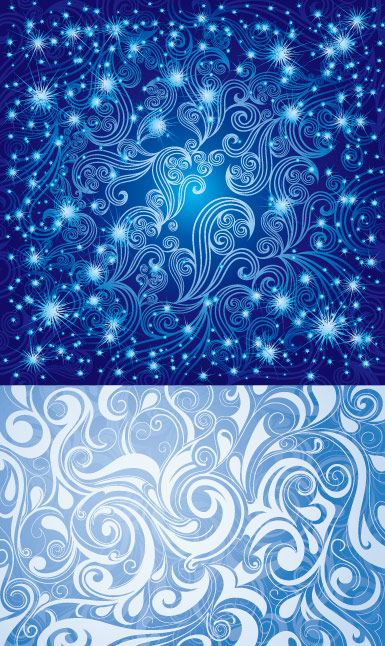 Pretty blue pattern vector