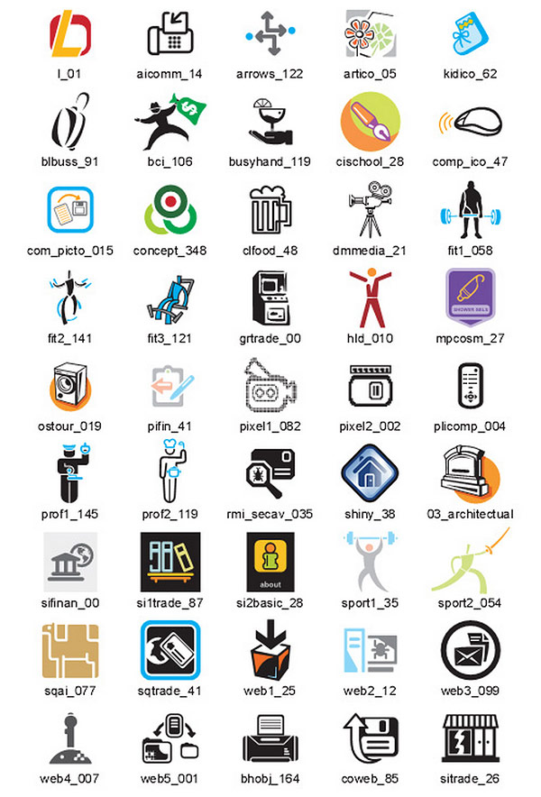 Business Icons Vector Samples