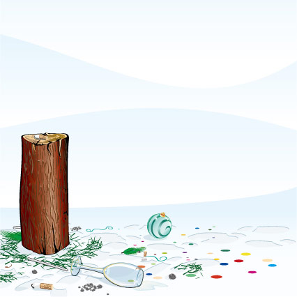 Wood, glass, cup vector