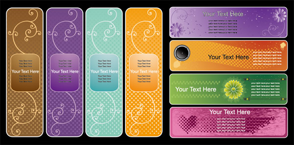 Vector pattern banner material