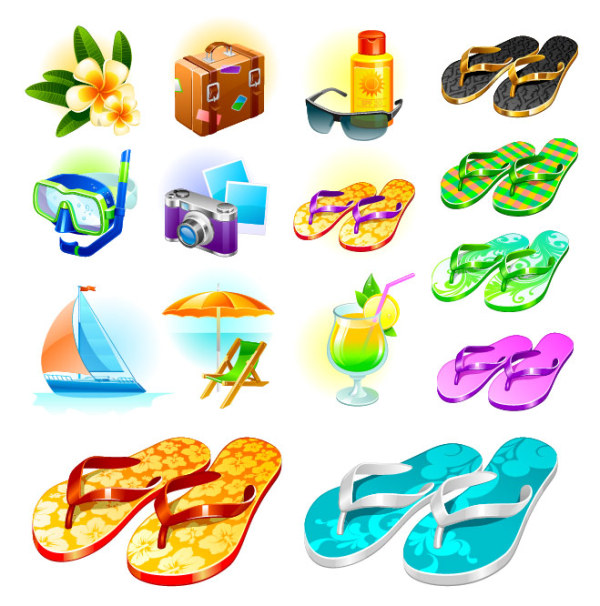 Vector material sea travel goods