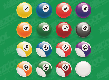 Billiard ball number vector material