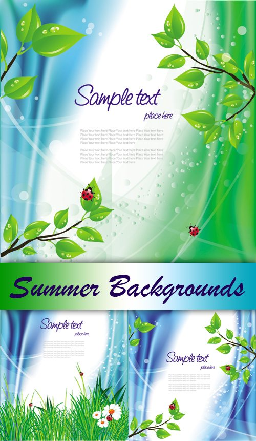 Greenery beetles theme vector of material