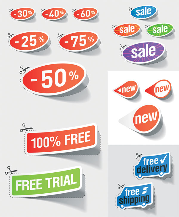 Nice discount sales sticker Vector