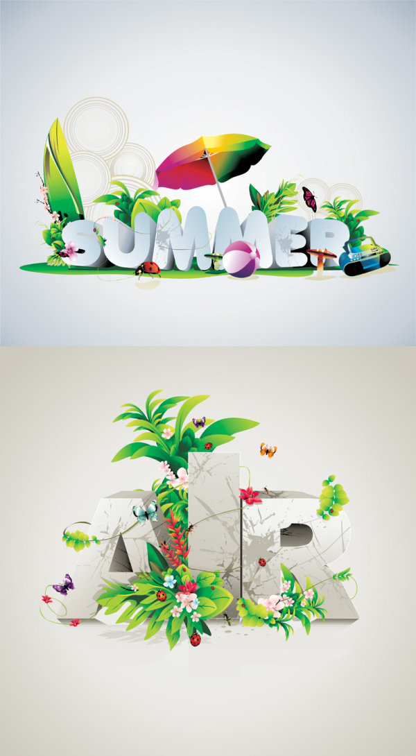 Beautiful typography posters