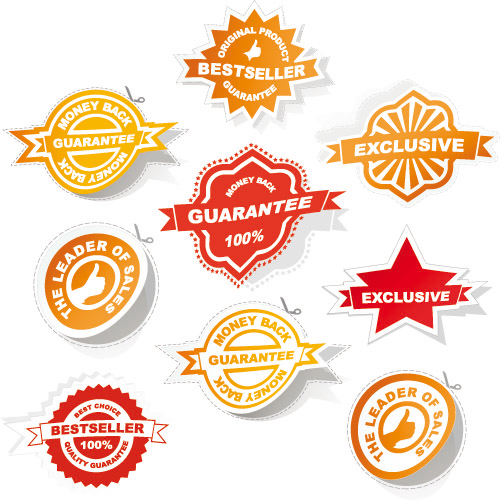 Badge labels 02 - Vector
