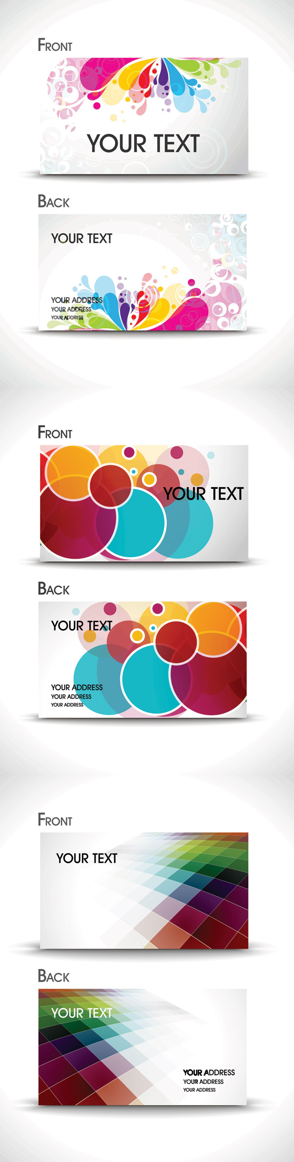 Brilliant business card template - vector material