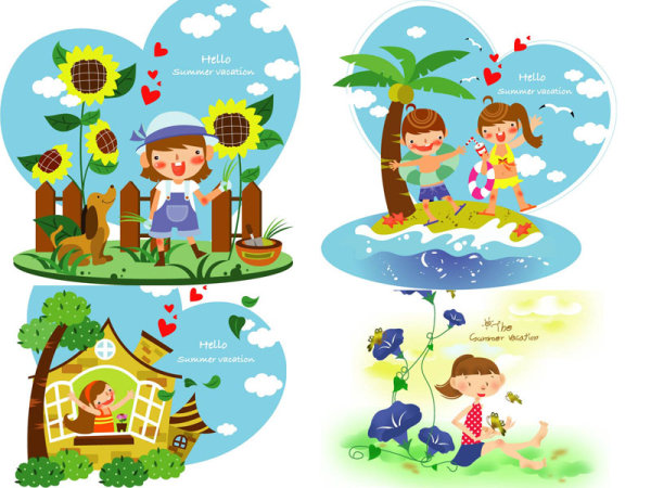 Children's Summer Vector 2