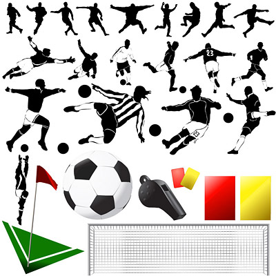 Vector elements of the theme of football