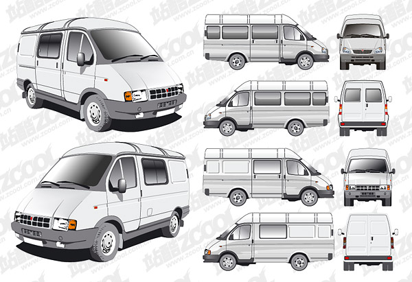 Commercial vehicle vector material