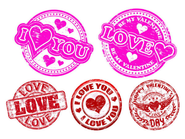 LOVE badge Vector