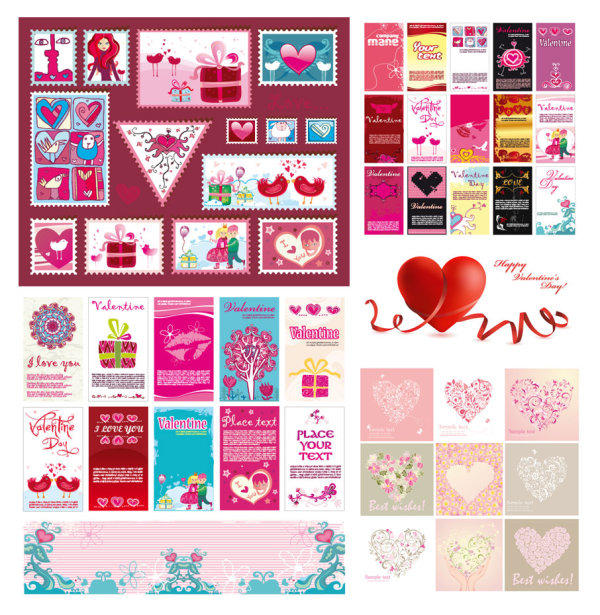 Several very lovely Valentine's Day Vector