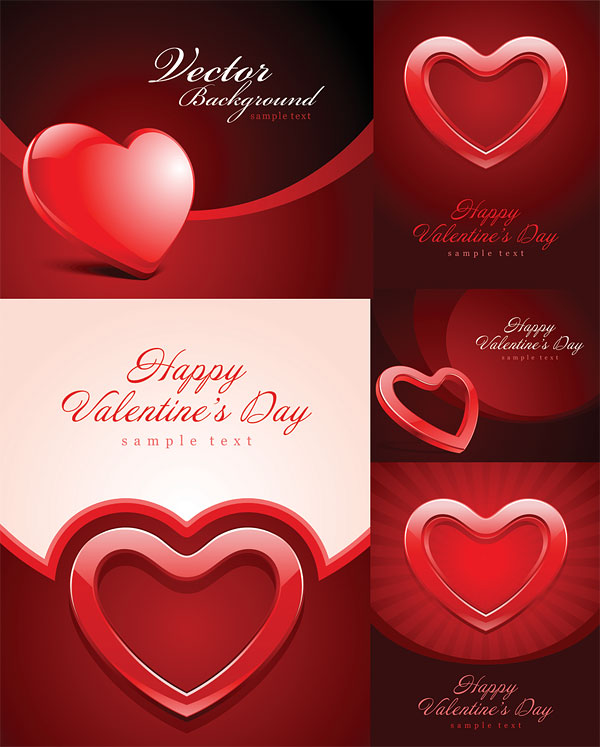 Valentine's Day heart-shaped texture of the background vector material
