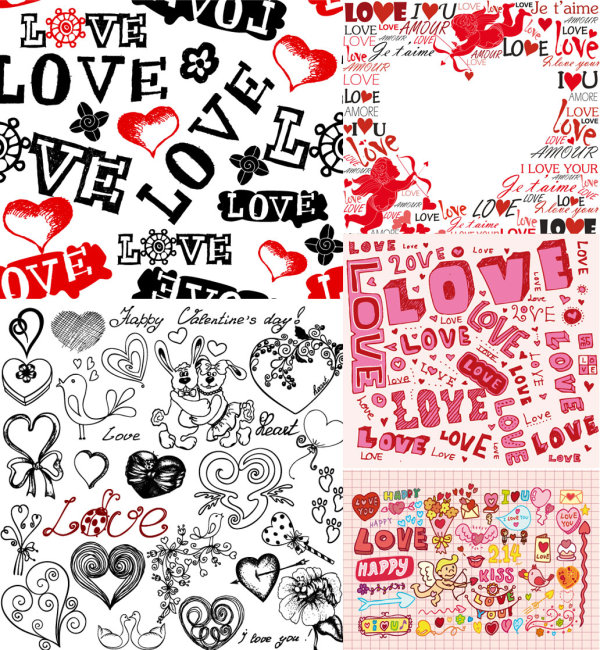Super cute Valentine's Day Background Vector