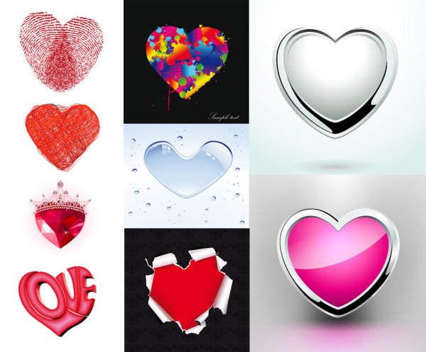 Heart-shaped element pattern vector material
