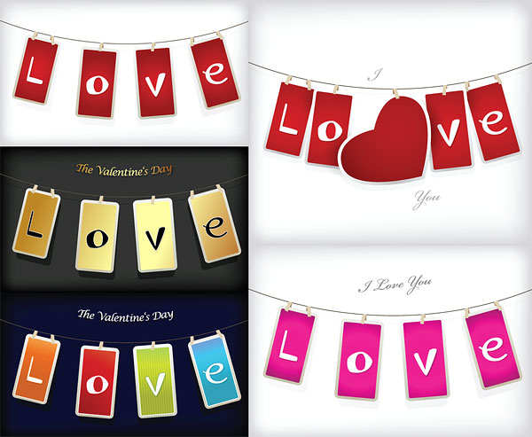 LOVE tag vector material
