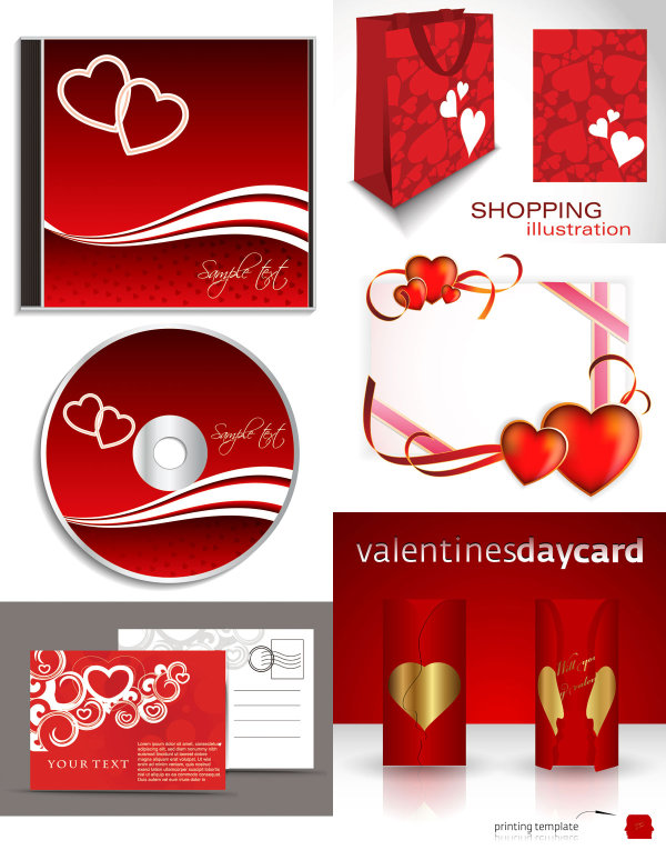 Elements of the romantic Valentine's Day 02